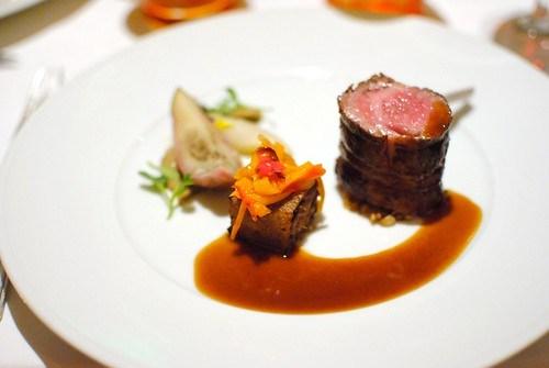 Colorado Lamb Loin courgette, porcini, farro, lamb jus