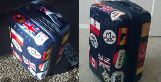 The Well Stickered Suitcase