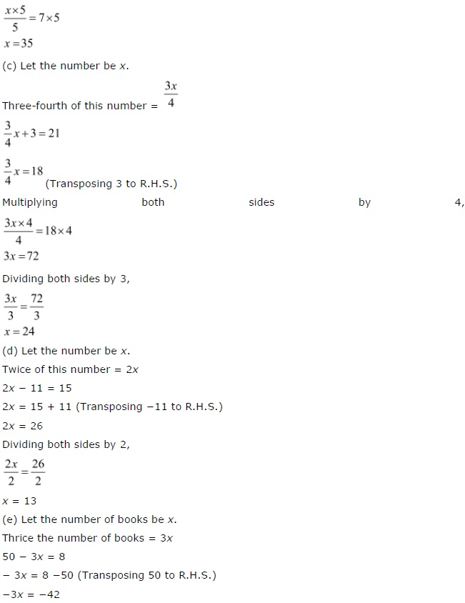 NCERT Solutions for Class 7 Maths Chapter 4 Simple Equations Exercise 4.4