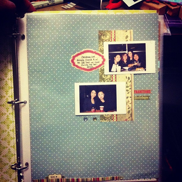 Scrapping 2011 #christmas instax photos #authentique #scrapbooking