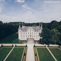 Building #castles in the #sky #historic #castle #poekekasteel #aalter #visitflanders #vsco #vscocam #belgium_unite #igbelgium #belgium #aerialphotography #landscape #architecture #summer #blue #sky