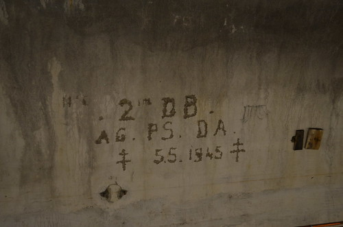 5 May 1945 French Army graffiti in a bunker