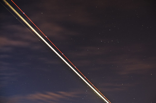 Plane passes Cassiopeia