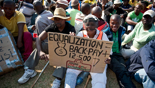 Mineworkers in South Africa are demanding better pay and working conditions. On September 12, 2012 unrest spread further throughout the platinum and gold sectors. by Pan-African News Wire File Photos