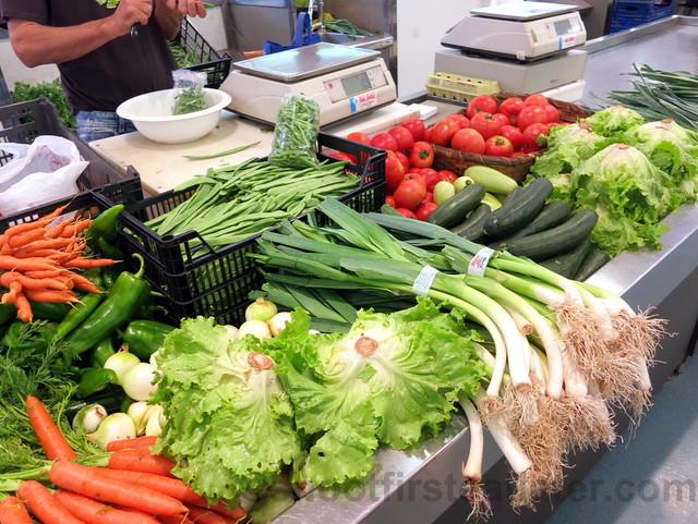 supermarket in San Sebastian- veggies