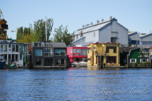 houses along the waterfront