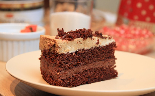 Chocolate coffee cake