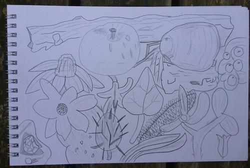 garden sketch gman