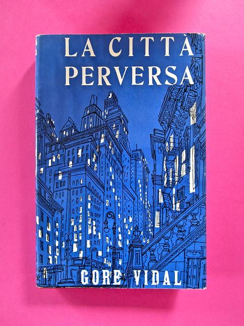 Gore Vidal, La città perversa, Elmo editore 1949. (copia 2) Prima di sovracoperta (part.), 1