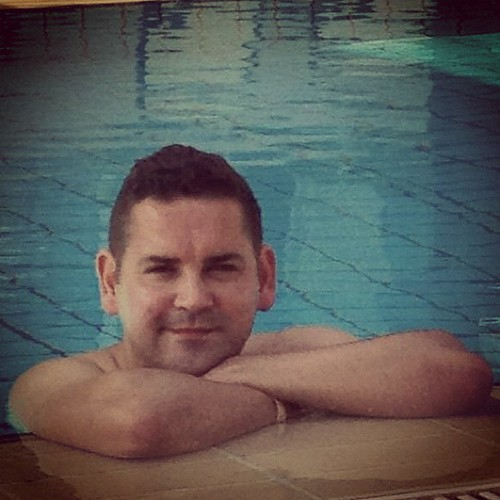 Me relaxing in the pool, Cyprus