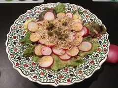 Radish salad with mustard dressing