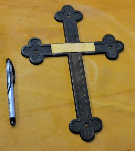 17th century cross found at Ste. Marie by gnawledge wurker