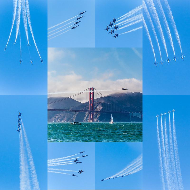 Blue Angels air show aerobatic demonstration