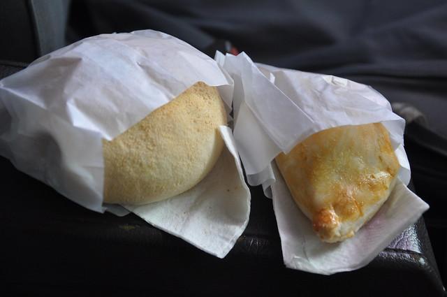 Adobo Roll and Chicken Empanada