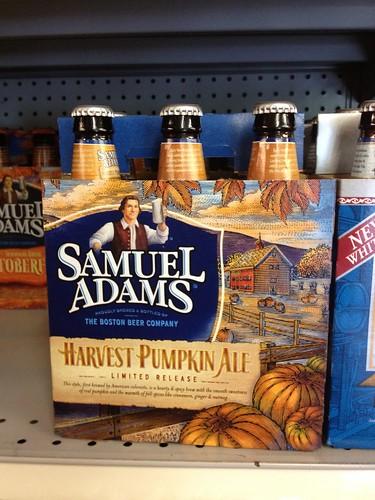 Sam Adams harvest pumpkin
