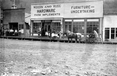 Woodin and Rugg Hardware, Farm Implements, Furniture, and Undertaking