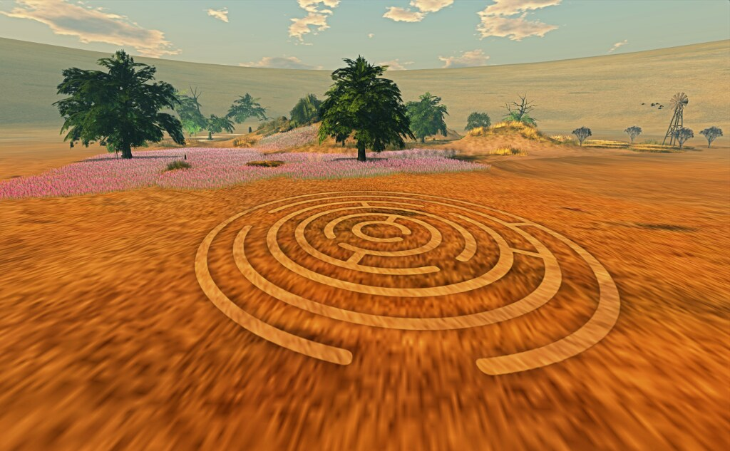 A maze carved on the ground (by Ricco Saenz)