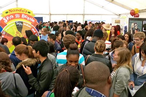Freshers' Fair crowds