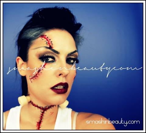 Bride of Frankenstein Halloween Makeup Tutorial