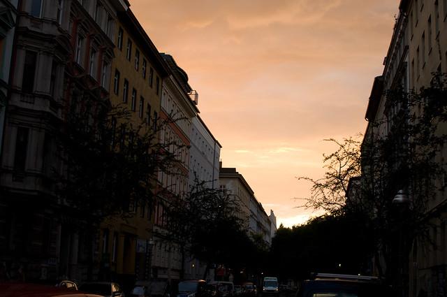 The sky above Kreuzberg