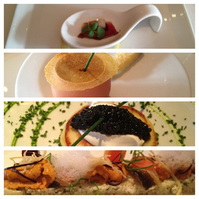 Amuse bouche and starters