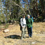 Dave & Jenn at our campsite at Dingleberry Lake