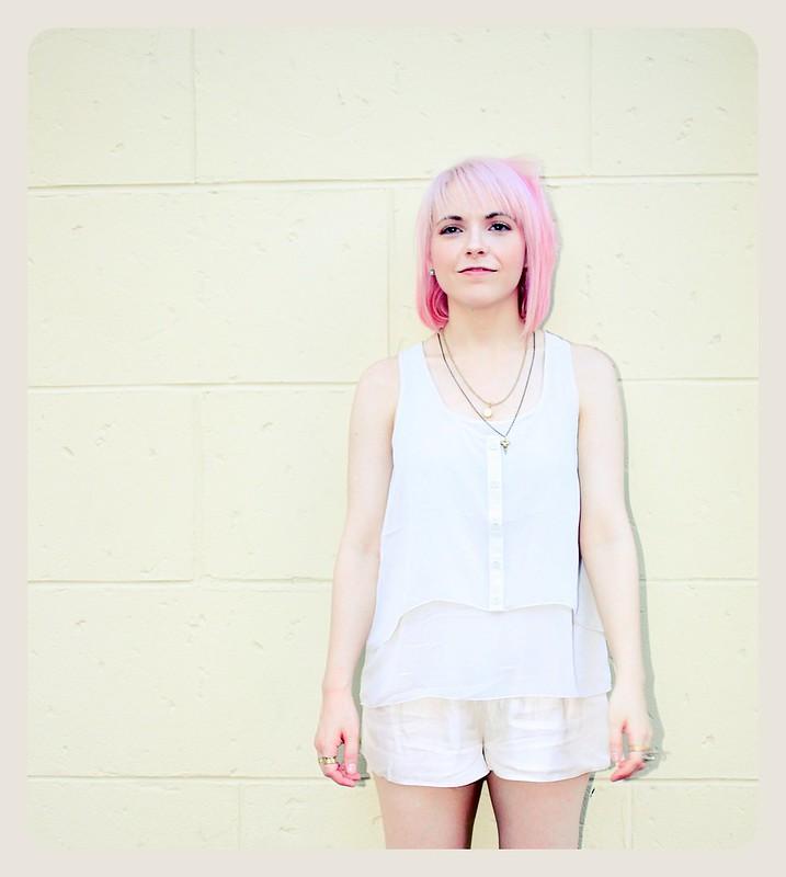 pastel hair pink smile summer