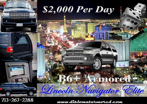 Armored Lincoln Navigator in Vegas by diplomatarmored