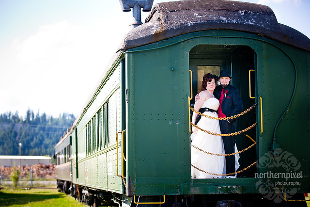 Newlyweds @ Prince George Railway and Forestry Museum