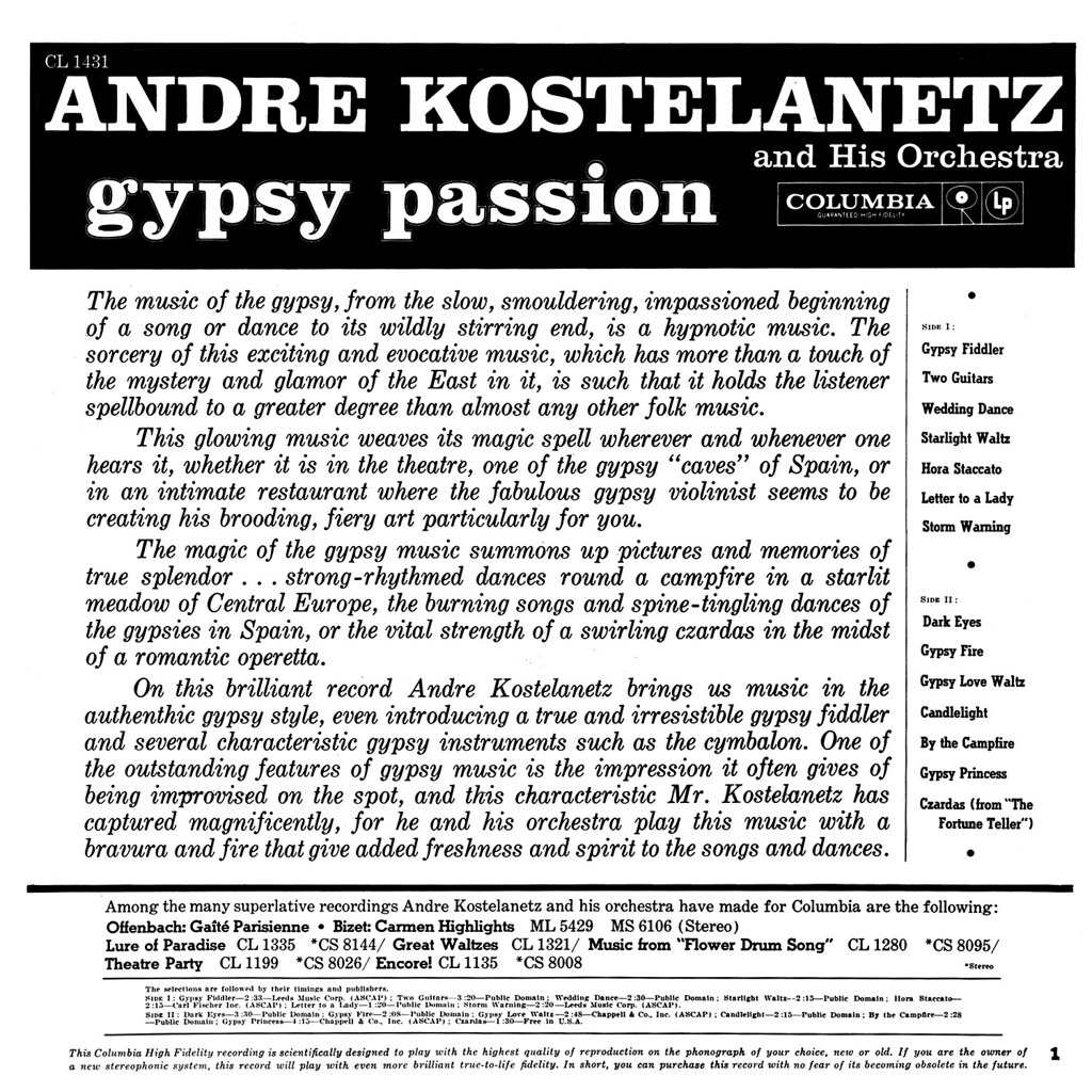 André Kostelanetz - Gypsy Passion