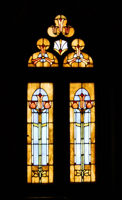 A lily window from the Red Cloister