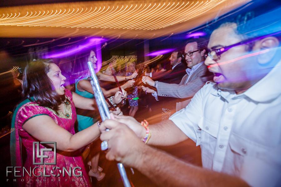 Dandiya Raas Dancing at Reesha & Neil's Hindu Wedding Reception   W Hotel Midtown   Atlanta Indian Wedding Photographer