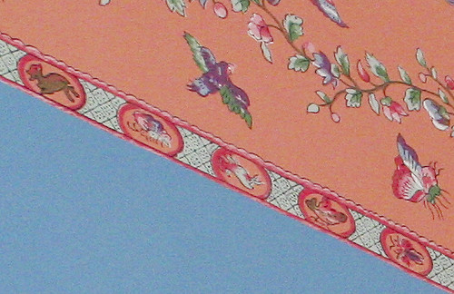 Closeup of old wallpaper border