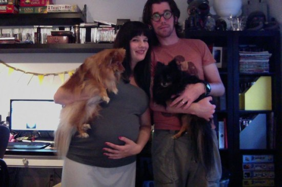 30 Weeks w/Husband & Dogs