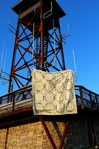 quilt and tower