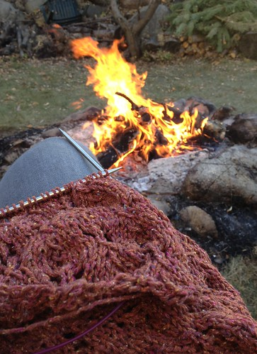 fireside knitting