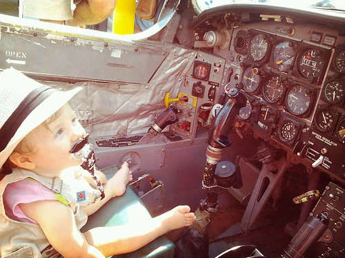 how did a baby get to pilot a jet?