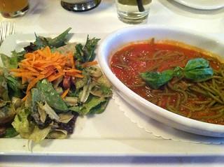 Gluten free spaghetti & house salad