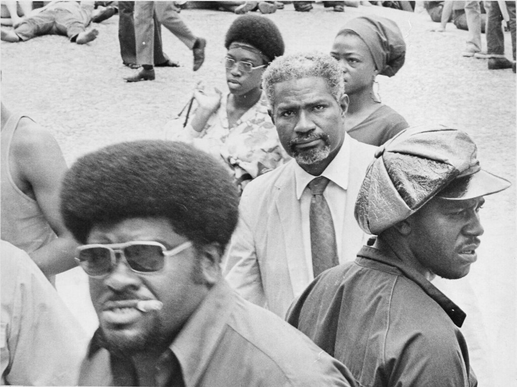 Big Man & Ossie Davis at Panther Rally 1970