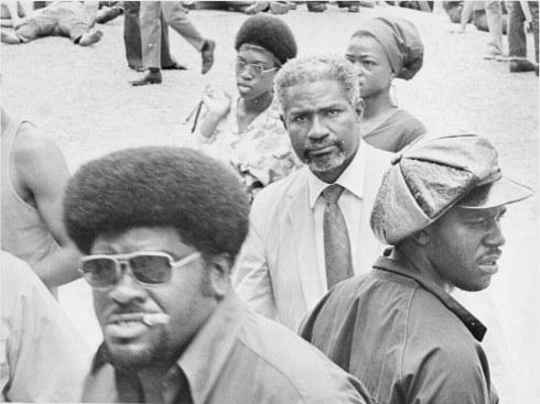 Big Man & Ossie Davis at Panther Rally 1970