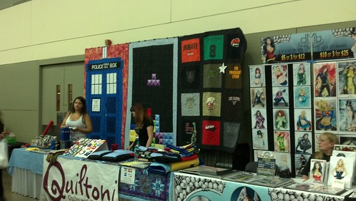 Cool Quilts at Artist's Alley at Baltimore Comic-Con 2012