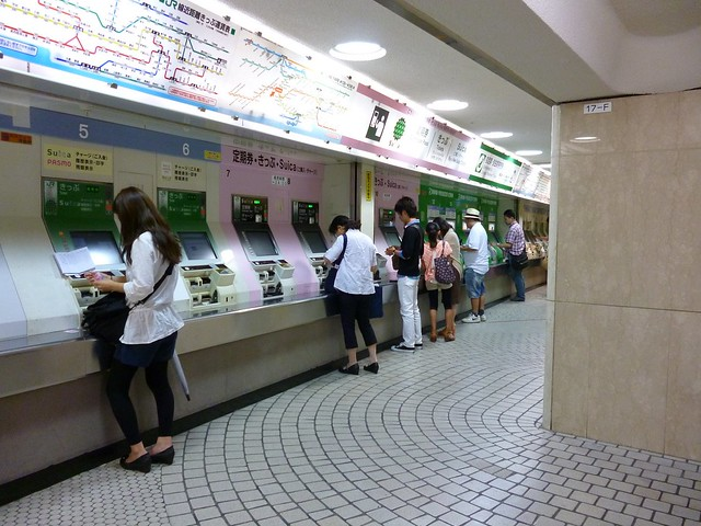 Buying tickets for Tokyo trains
