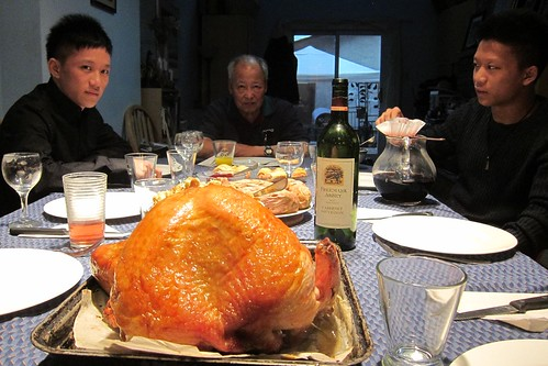 Turkey and Wine at Canadian Thanksgiving