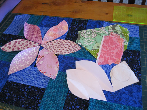 Ripe and Blooming - petals ready to be appliqued