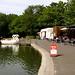 Boating lake and cafe