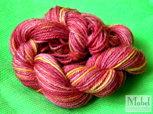 SS Handspun in Golden Red
