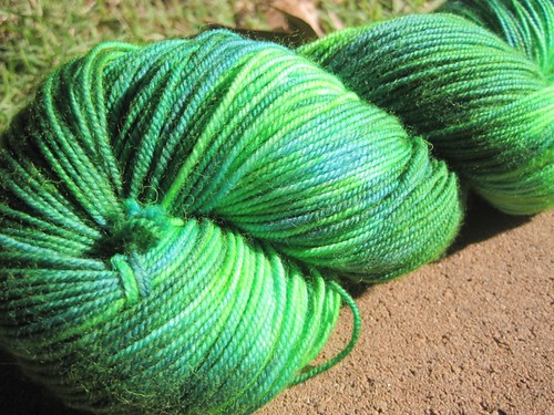 Skein 3 after (outdoors, sunlight)