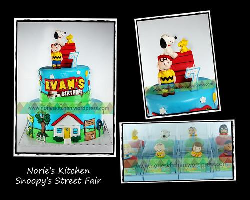 Norie's Kitchen -Snopy's Street Fair Cake by Norie's Kitchen