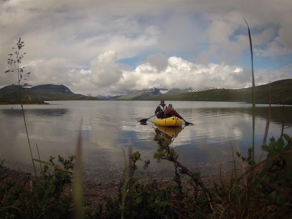 Going for fish. Vuoma lake. Øvre Dividal National Park, Norway.