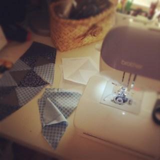 Paper Piecing in progress